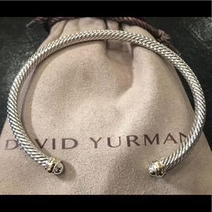 David Yurman 4mm Cable Classic Bracelet 18k Gold